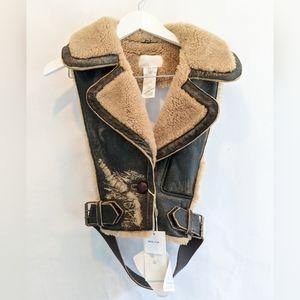 Maison Margiela shearling distressed vest S(42) BNWT